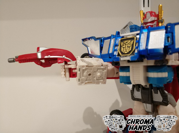 RID Omega Prime 5mm weapon adapter x 2 in White Processed Versatile Plastic