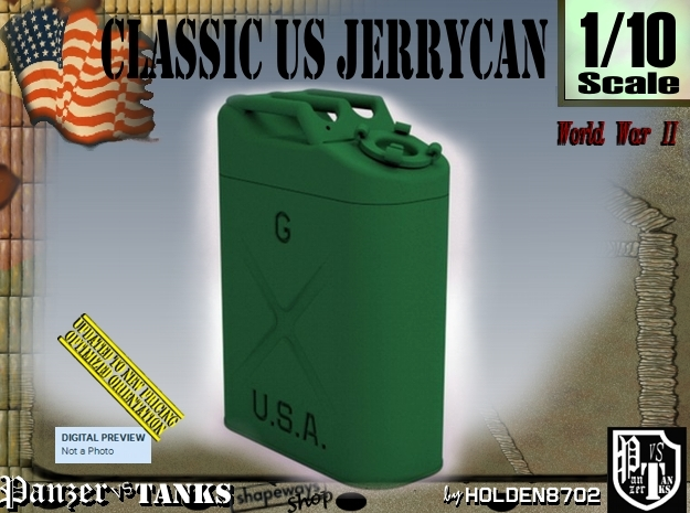 1/10 US Army Jerrycan in Green Strong & Flexible Polished