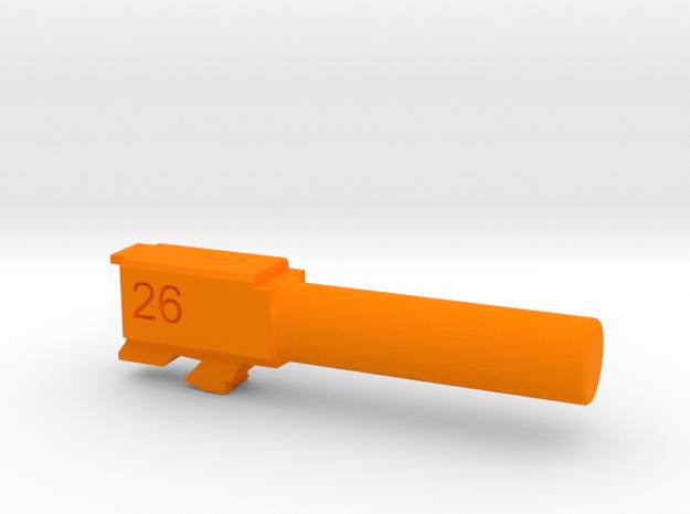 G26 Training Barrel in Orange Processed Versatile Plastic