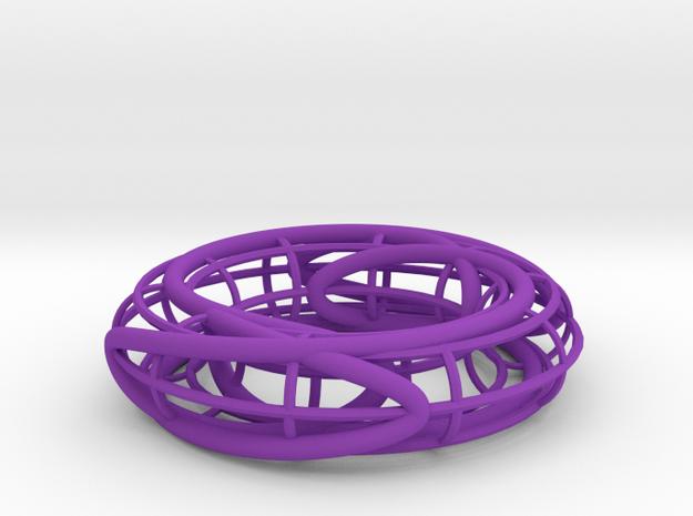 Prime Link 6^2_3 on a Torus in Purple Processed Versatile Plastic