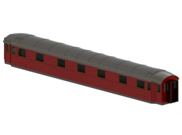 ACo2c - Swedish passenger wagon in Smooth Fine Detail Plastic