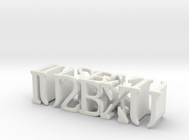 3dWordFlip: IU2BXU/IU2BXU in White Natural Versatile Plastic
