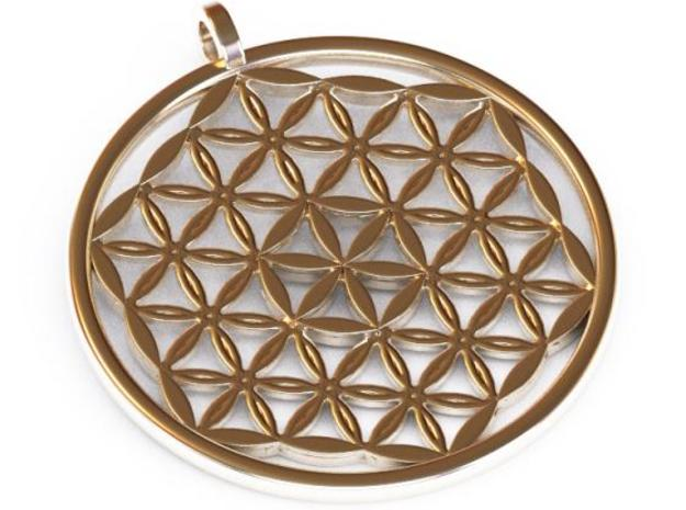 Flower of Life Pendant in Stainless Steel