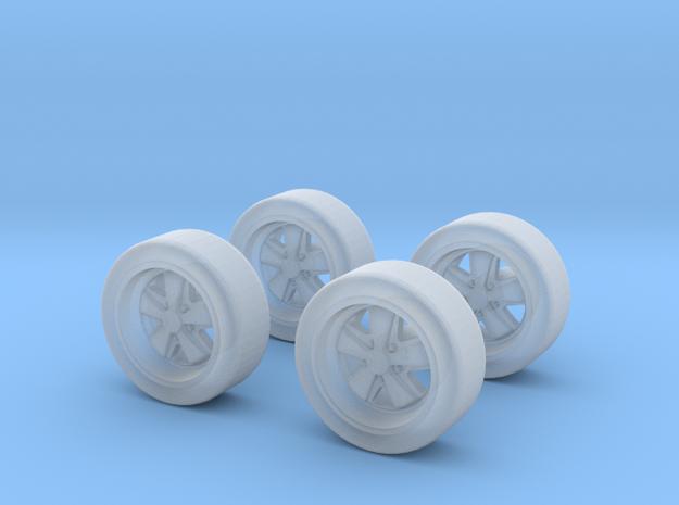1/60 jantes avec déport/wheels  type Fuchs  X 4 in Smooth Fine Detail Plastic