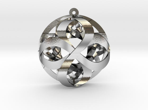"""Star of Infinity Pendant 1.6""""  in Polished Silver"""