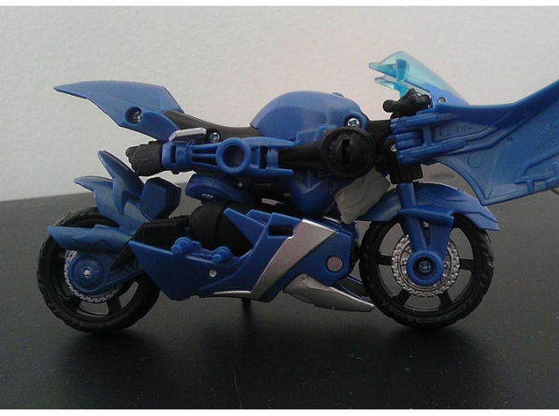 CHROMIA homage Tempest Set for RID 3d printed Tempest Head placement in Deluxe TF Prime Arcee alt mode