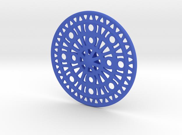 Celtic Ornament, Sanctuary of Hera, Greece in Blue Processed Versatile Plastic: Medium