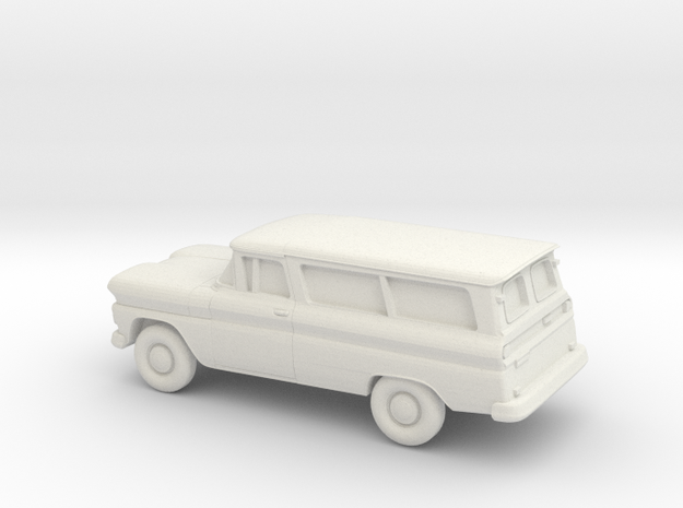 1/76 1960-61 Chevrolet Suburban Split Doors in White Natural Versatile Plastic