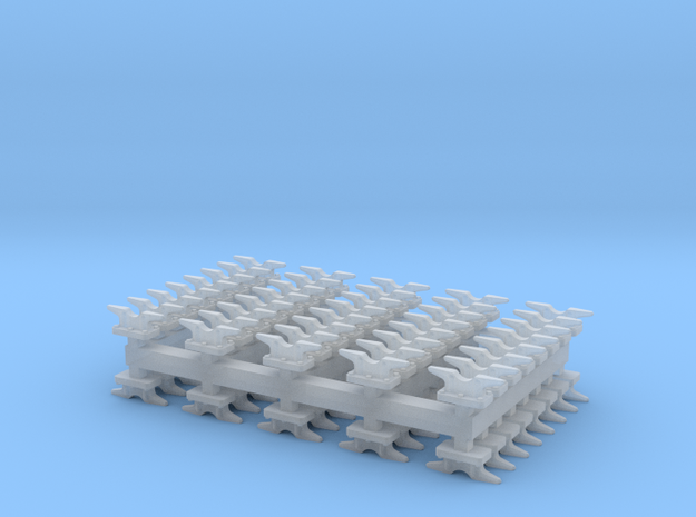 Mooring  Cleat - 3.5 mm - 80ea in Smoothest Fine Detail Plastic