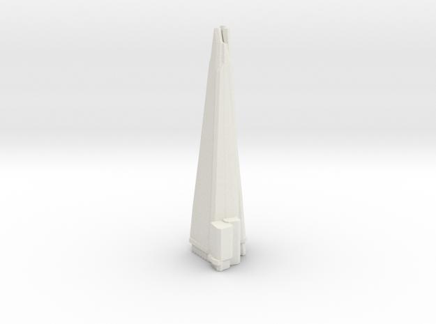 The Shard - London (1:6000) in White Natural Versatile Plastic
