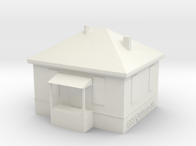 Quinan St House in White Natural Versatile Plastic