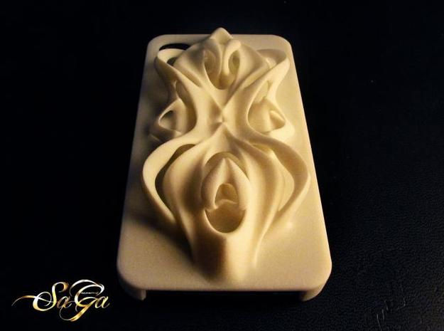 Baroque iPhone Case in White Strong & Flexible Polished