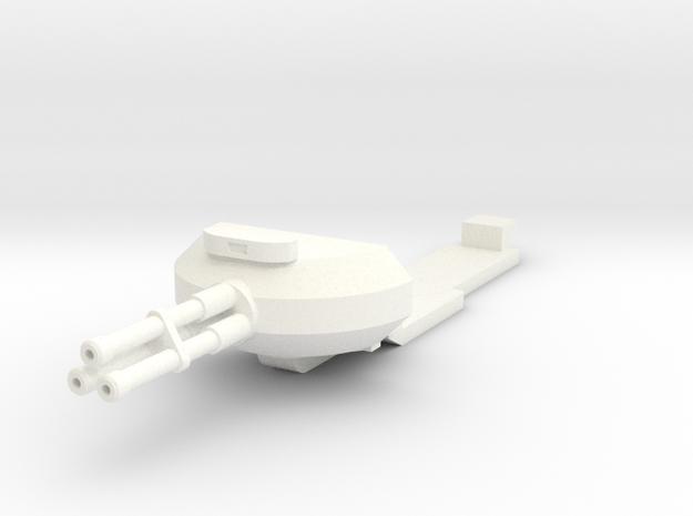 1:100 HALO Pelican Nose Gun (Gear up) in White Processed Versatile Plastic