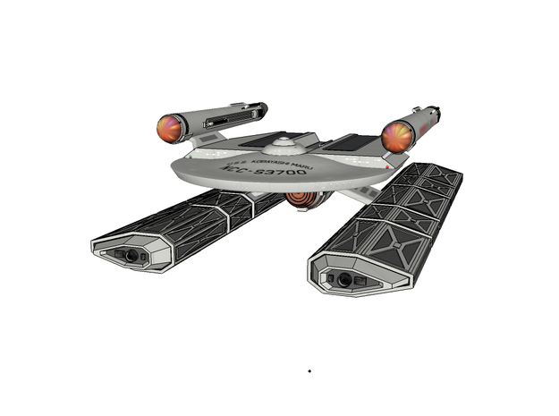 Class III Nuetronic Fuel Carrier Nacelles (Part #2 in White Processed Versatile Plastic