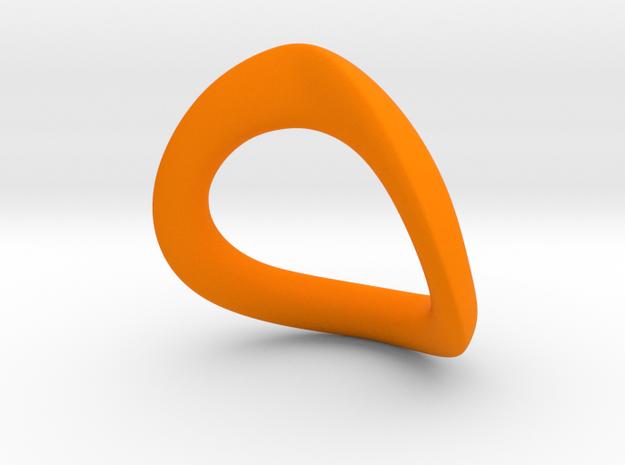 JNada CRing 52.5mm in Orange Processed Versatile Plastic