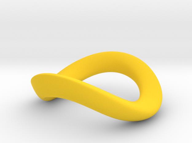 JNada CRing 55mm - 2.17INCH in Yellow Processed Versatile Plastic