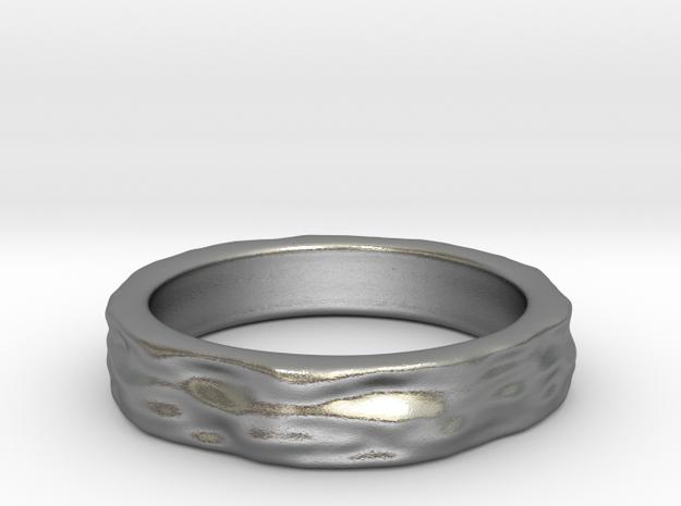 Mesh0493 Ring - narrow in Natural Silver
