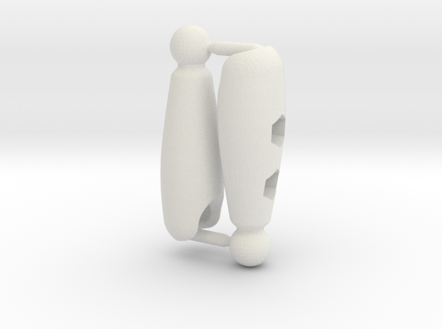 Shaped Thigh Set for ModiBot in White Natural Versatile Plastic