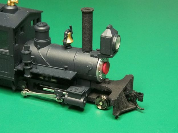 Parts to convert F&C loco to 2-4-0 [set B] 3d printed Painted and fitted to the loco