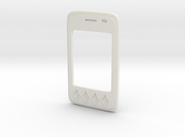 Harley Quinn PROP Phone v.1 - Front in White Natural Versatile Plastic