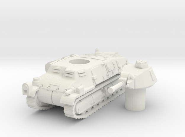 somua S35 (german version) scale 1/87 in White Natural Versatile Plastic