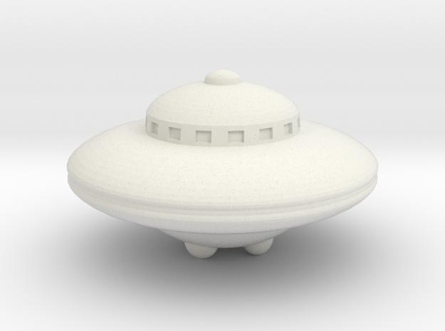 Planet X Spaceship in White Natural Versatile Plastic