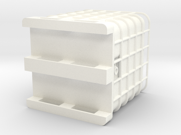 275 Gallon Pallet Tank in White Processed Versatile Plastic