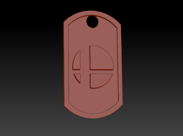 Super Smash Brothers Themed Dog Tag in White Natural Versatile Plastic