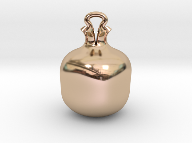 Pomegranate jewel in 14k Rose Gold Plated Brass