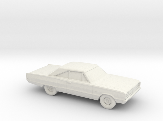 1/87 1967 Dodge Coronet Coupe in White Natural Versatile Plastic