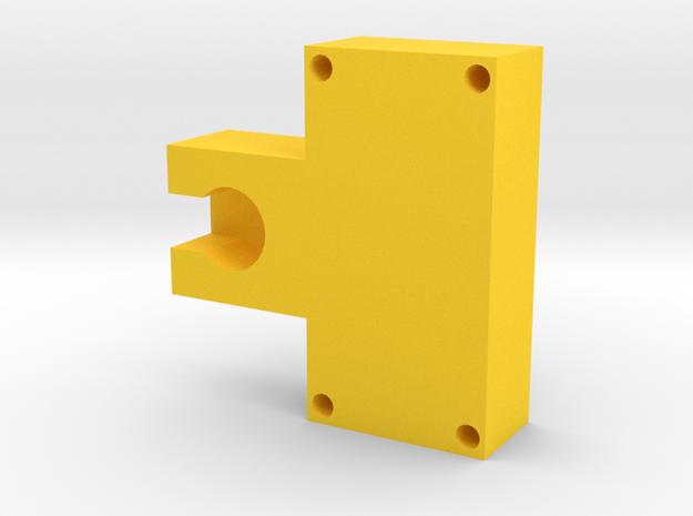 Motor Mount Module in Yellow Processed Versatile Plastic