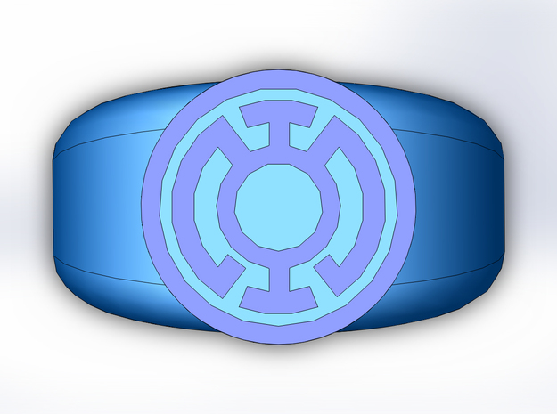 Blue Lantern Ring in Full Color Sandstone