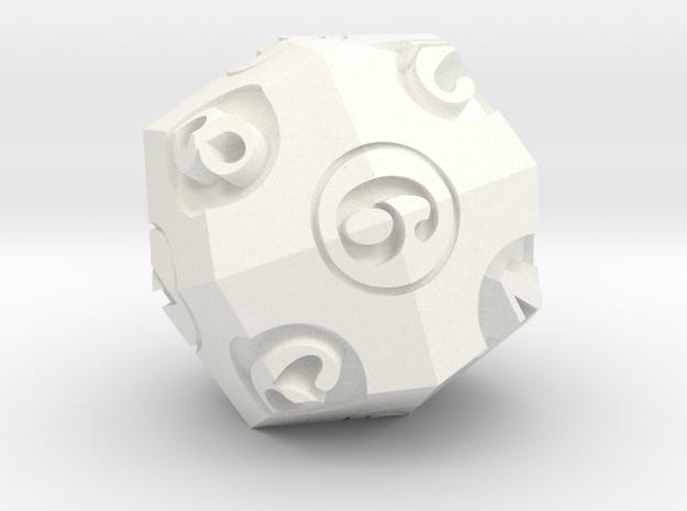d6 / d8 DualDice in White Processed Versatile Plastic