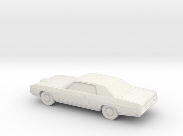 1/43 1971 Ford LTD Coupe in White Natural Versatile Plastic
