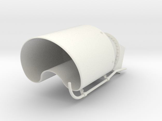1:7.6 Ecureuil AS350 / Exhaust in White Natural Versatile Plastic: 1:8