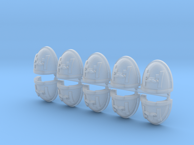 Commission 25 Shoulder Pads Mk7/8 x10 in Smooth Fine Detail Plastic
