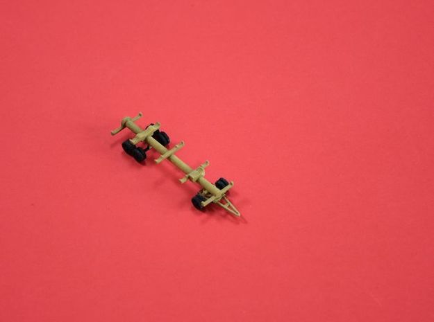 1/144 Molch trailer for German submarine (set of 2 in White Natural Versatile Plastic