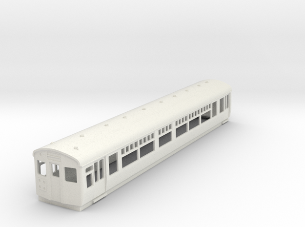O-87-lner-dr-trailer-1st-coach in White Natural Versatile Plastic
