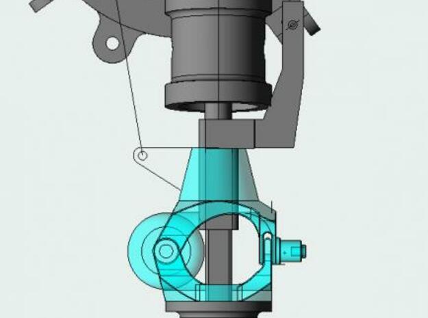 SLS rotor mounts 2 3d printed