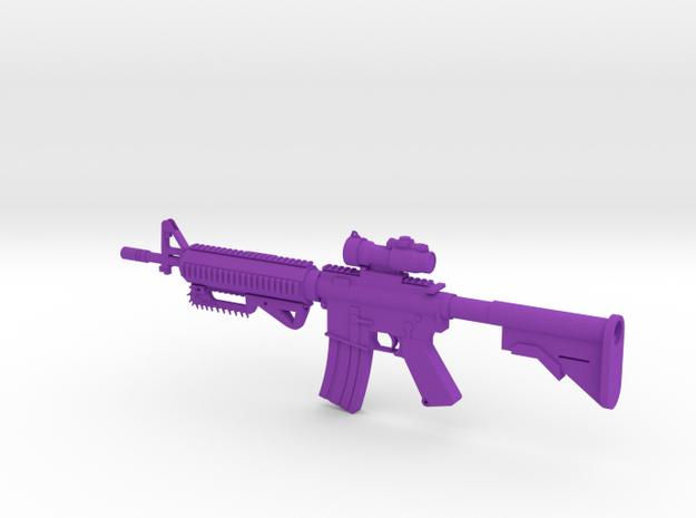 BWS Zombie Sentinel M4 Rifle in Purple Processed Versatile Plastic