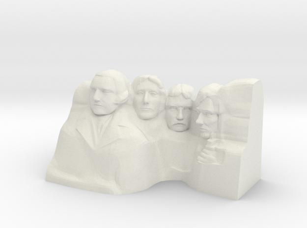 Mount Rushmore Monument in White Natural Versatile Plastic