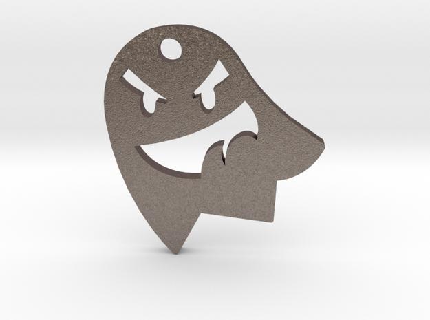 Little Cute Ghost Pendant in Polished Bronzed Silver Steel