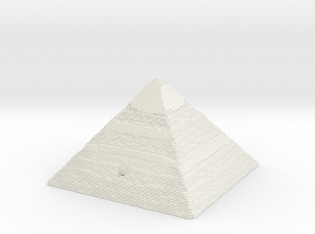 Pyramid of Khafre in White Natural Versatile Plastic