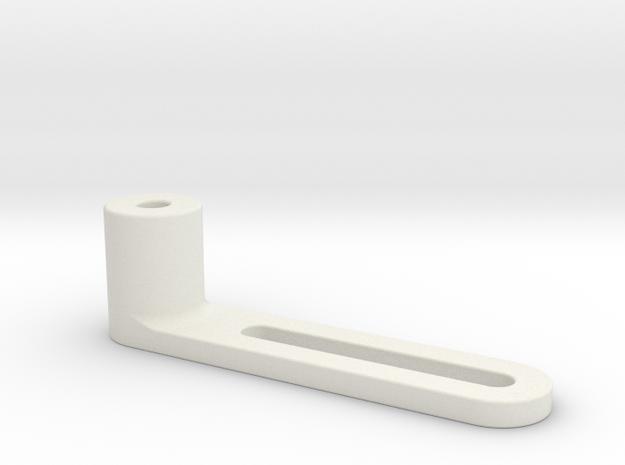 1:7.6 Ecureuil AS 350 / Landingframe Part 08 in White Natural Versatile Plastic