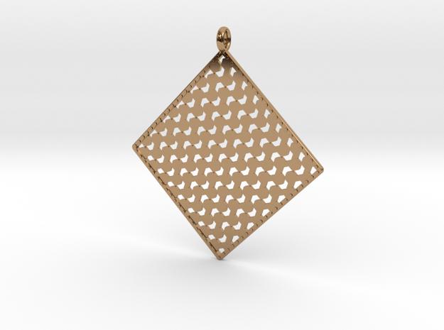 Pendant Pattern 1d  in Polished Brass