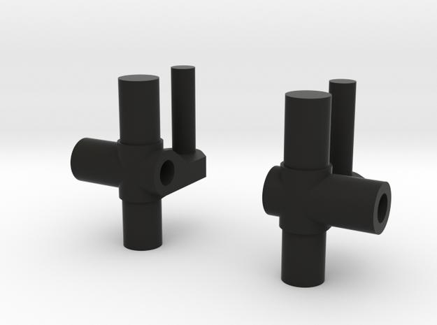 Maisto Extreme Blaster Spares Steering Knuckles  in Black Natural Versatile Plastic