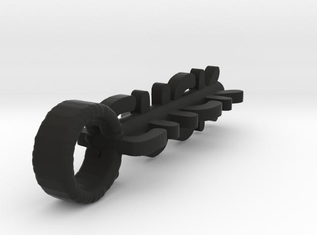 Cluster F#$K Key charm in Black Premium Versatile Plastic
