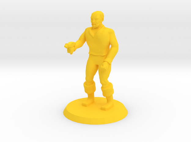 Space Officer 4 in Yellow Processed Versatile Plastic