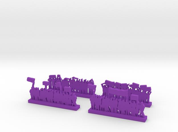 Protestors - Variation B  in Purple Processed Versatile Plastic