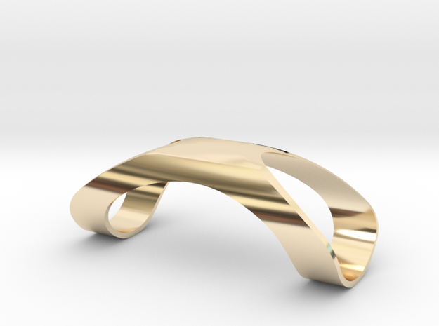 Finger Splint Ring Closed Top in 14k Gold Plated Brass